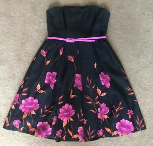 Debenhams Red Herring Special Edition Strappless Dress Uk Size 12
