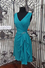 S461 VENUS BM1821 SZ 10 TURQ $178  PARTY FORMAL COCKTAIL DRESS