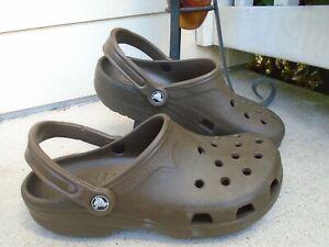 Mens Crocs brown Clogs Shoes Black Size 10-11