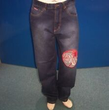 Big & Tall Loose Stonewashed Jeans for Men