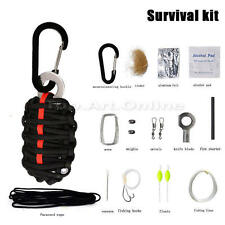 Outdoor Emergency Paracord Survival Tools Kit Fire Starter DY For Hiking Camping