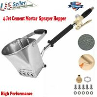 Cement Mortar Concrete Stucco Air Sprayer Hopper 4 Jet Paint Wall Plastering Gun