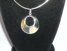 "LADIES STERLING SILVER MOTHER OF PEARL PAUA SHELL CHOKER NECKLACE 17"" JEWELERY"