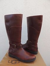 UGG EVANNA BROWN TALL WATERPROOF LEATHER SNOW BOOTS, US 9/ EUR 40  ~NEW