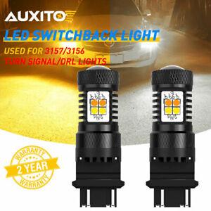2X 7443 7444  Amber Yellow White Car LED Turn Signal Light Bulbs Reverse Lamp