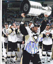 MATT CULLEN SIGNED PITTSBURGH PENGUINS 2016 CUP 8X10 PHOTO EXACT PROOF