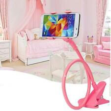 Flexible Bracket Cell Phone Stand Holder Desk Bed For Each Phone Models Pink T#
