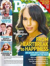 People Magazine - November 18, 2013 - Kerry Washington Rob Lowe Mariel Hemingway