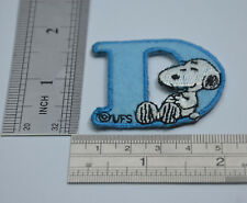 "LETTER D SNOOPY ALPHABET 1 1/2"" 4cm Sew Iron on Cloth Patch Applique Embroidery"