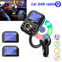 Car DAB+ AUX Digital Radio USB LCD Adapter Receiver Tuner+FM Transmitter+Antenna