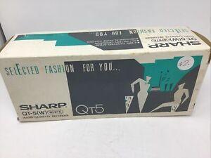 Sharp Radio Cassette Recorder QT-5 White Sealed New In Open Box Stranger Things