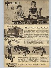 1956 PAPER AD 3 Pg Yardbird Train Crank Wagon Radio Rancher Pedal Car Dragnet