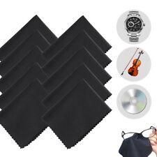 Lot 10Pack Black Premium Microfiber Cleaning Cloths For Lens Glasses LCD Screen