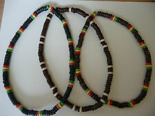 Ethnic Rasta Tribal Surfer Natural Bead Dreads Hippie Stretch Necklace