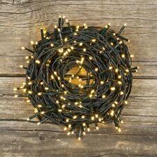 Catena Luci di Natale EXTRALONG 25,7mt cavo verde - 360 miniled BIANCO CALDO