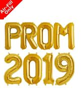 "16"" CLASS OF 2019 PRO Party & Decoration Balloon Banner Kit Air Fill Only - GOLD"