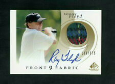 2002 Raymond Floyd UD SP Front 9 Fabric Game Used Relic Patch On-Card Auto /375