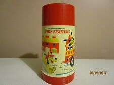 VINTAGE 1969 WALT DISNEY CARACTER FIRE FIGHTERS ALADDIN INDUSTRIES THERMOS