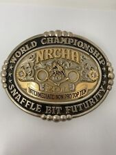 World Championship By Gist Belt Buckle Sterling Overlay 1/10 10k