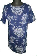 DENIM CO DARK BLUE DENIM FLORAL DRESS - UK Size 12