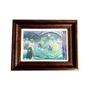 Ghost ladies tea party  framed illustration painting disney artist
