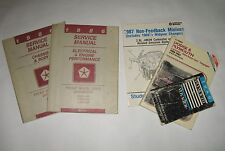 Lot of Service Shop Manuals for 1986 Chrysler Plymouth Voyager Ram Van Caravan