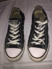 Converse Chuck Taylor All Star Canvas Lo Top Tennis Shoes Black Mens 6 Womens 8