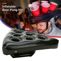 Inflatable Beer Pong Hats Fun Throwing Toy Adult Kids Party Beach Ring Toss Game