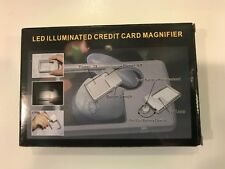 Illuminated credit card sized Magnifier LED 3x & 6x MAGNIFICATION FREEPOST