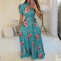Evening dress party Women's sundress maxi beach long boho floral cocktail summer