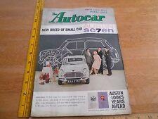 The Autocar 1960 Austin Martin Seven British magazine Monte Carlo Rally
