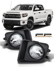 2014 - 2017 Toyota Tundra Fog light Lamps Kit Clear Lens Full Complete Kit LH/RH
