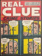 REAL CLUE CRIME STORIES V0L.2 #6 1947 VG/VG+ VELVET SILVER SPLASH  KIRBY STORIES