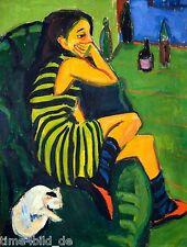 TIME4BILD ERNST LUDWIG KIRCHNER Artistin Marcella BILDER LEINWAND GICLEE ART