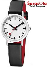 Mondaine A658.30323.16OM White Dial Stainless Steel Black Leather Women's Watch