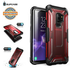 Galaxy S9/S9 Plus SUPCASE Unicorn Beetle Hybrid Clear Protective Case - RED