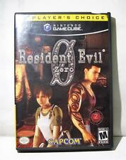 Gamecube Resident Evil Zero 2 Disk With Case No Manual
