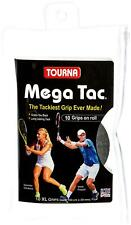 Tourna Mega Tac 10-XL Grips (103 cm x 29 mm) + Finishing Tape, Gray
