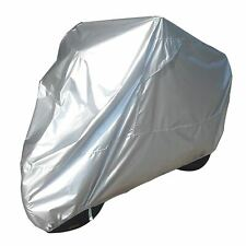 Bike It Motorcycle Rain Cover - Silver - Large Fits 750-1000cc
