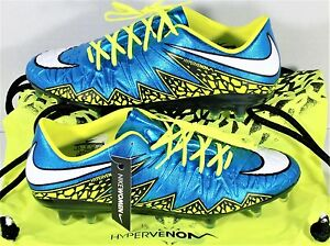 Nike Hypervenom Phinish FG Womens Soccer Cleats Blue & Volt Sz 7 NEW 744947 400