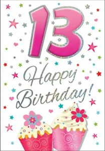 13th Birthday Card GIRL - 13 Today - Piccadilly Cards - 7 x 5 Inches