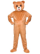 FUNNY Teddy Bear Adulto BIG HEAD Costume Mascotte Costume GRIZZLY ANIMALE unisex