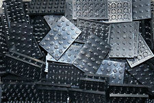 LEGO 40 x BLACK  BASE/PLATE/BOARD BRICK 4x6  (ID 3032)  (CITY,MOVIE,STAR WARS)