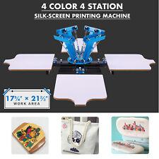 Preenex Silk Screen Printing Machine 4 Stations for 4 Color Shirt Making & More