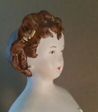 """Vintage Bisque Porcelain Parian-type Repro """"Diedra/Nina"""" Doll 15"""" Ready-to-Dress"""