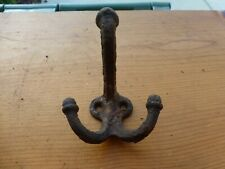 Antique Cast Iron Three Pronged Coat Hook
