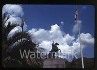 1940 Red border  Kodachrome Photo slide Jackson Square  New Orleans LA #2