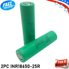 Samsung INR 18650 25R 2500mAh Flat Top Battery 3.7V - 2PCS Authentic
