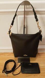 Coach MINI ABBY DUFFLE Pebble Leather Handbag ~w/ Wristlet