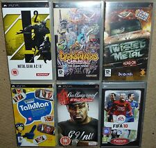 LOT SONY PSP GAMES 50 Cent Bulletproof Metal Gear Acid Twisted Metal Darkstalker